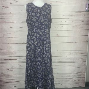 Woolrich Navy Blue White Patterned XL Maxi Dress